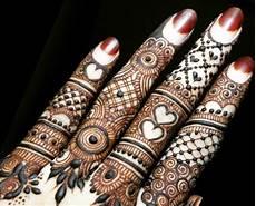 30 Gambar Motif Henna Tangan Kaki Pengantin Simple