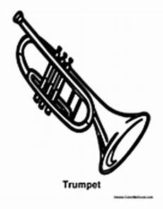 trumpet coloring pages