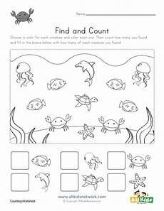 sea animals worksheets for preschoolers 14123 find and count worksheets all network animal worksheets worksheets for