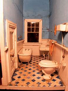picture ideas for bathroom susan s mini homes antique dollhouse from pennsylvania