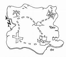 awesome treasure map of pirate treasure coloring page
