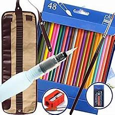 amazon com watercolor pencils bonus water pen 48