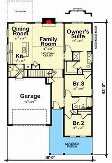 house plans with cathedral ceilings quaint 3 bed home plan with cathedral ceiling 42636db
