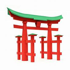 Torii Gate Japanese Traditional Architecture Paper Craft Kit