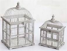 gabbie di legno per uccelli coppia gabbie uccelli vintage 44cm shabby chic country