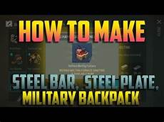 how to make steel bar steel plate and military backpack youtube