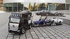 mercedes car carrier hauls your 1 scale collection
