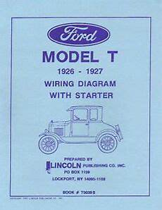 1926 27 ford t wiring diagram with starter ebay