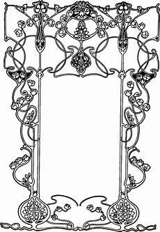 free vintage image nouveau ornate floral border