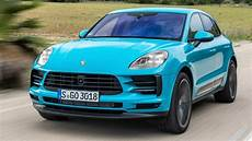 2019 Porsche Macan Miami Blue Driving Interior