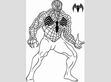 Spiderman Venom Coloring Pages   Free coloring pages
