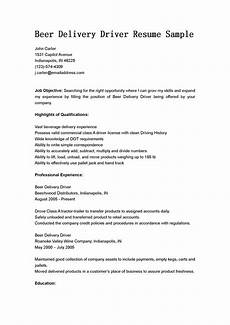 driver resumes delivery driver resume sle
