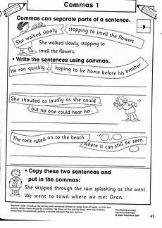 comma in a series worksheets image the students were a little unsettled and chatty however