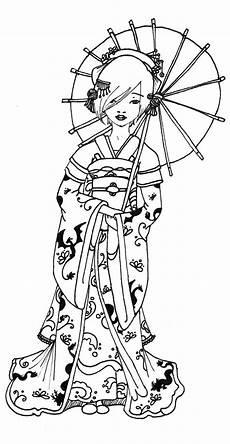 Malvorlagen Age Japanese Geisha Coloring Pages Da Ara Zentangle