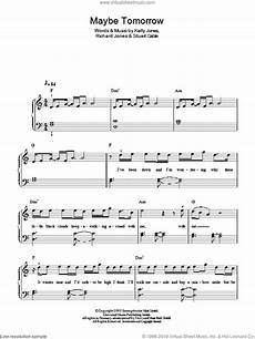 stereophonics maybe tomorrow sheet music for piano solo