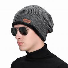2018 wool knitted winter caps faux fur baggy hats