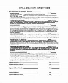 dental informed consent form template free 6 sle dental consent forms in pdf