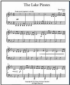 free printable piano sheet music for late beginners the lake pirates