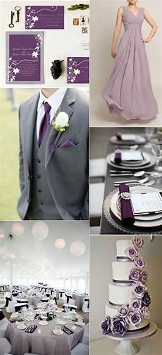 Purple Grey Wedding Ideas