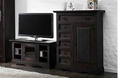 lowboard holz dunkel tv unterschrank pinie massiv holz lowboard tv