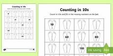 counting in tens ks1 counting and number lines