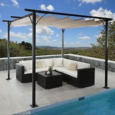 3x3 m pavillon garten pergola sonnenschutz terrassen