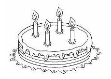Malvorlagen Kinder Torte Ausmalbilder Zum Geburtstag Geburtstagstorte Kerzen