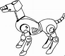 roboterhund seitlich ausmalbild malvorlage science fiction
