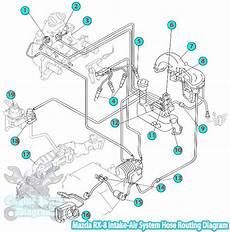 2003 Mazda Rx 8 Intake Air System Hose Routing Diagram