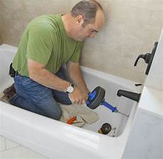 tackle a draining bathtub this house