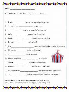 using have has or had worksheet by miss miller makes a difference