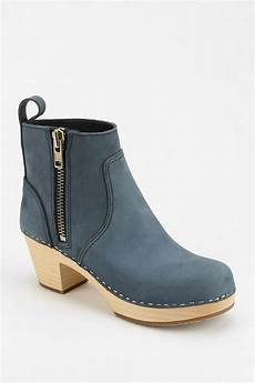 lyst swedish hasbeens zip it emy ankle boot in blue