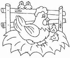 Aneka Gambar Mewarnai Hewan Ayam Untuk Anak Paud Dan Tk