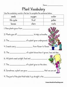 worksheets on plants cycle 13606 parts of a plant worksheets teaching