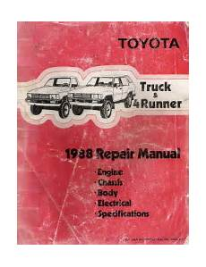 small engine repair manuals free download 2000 toyota corolla electronic toll collection 1988 toyota pickup truck 4runner factory service manual 3 volume set