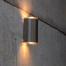 lutec path 15w exterior led up and down wall light in stainless steel fitting style from