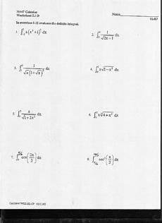 definite integrals worksheet for 10th 12th grade lesson planet
