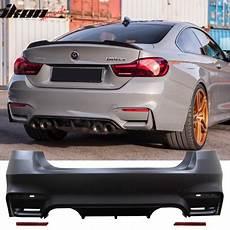 fits 12 bmw f30 3 series m3 m4 style rear bumper cover diffuser muffler walmart com