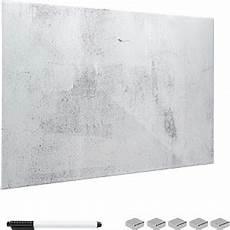 glas magnetwand navaris 45724 04 glas magnetwand 60x40 cm beton optik