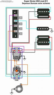 Hsh Wiring Diagram 2 Volume 1 Tone by Hermetico Guitar Wiring Diagram Strato Hsh Mod 11