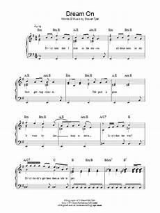 dream on sheet music aerosmith beginner piano