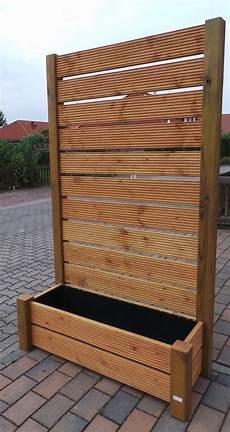 Pflanzkübel Als Sichtschutz - sichtschutz mobiler zaun blumenkasten blumenk 252 bel 202x120