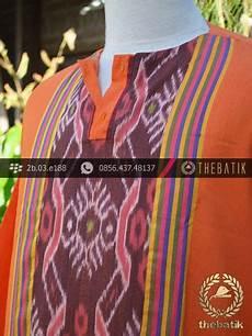 jual baju koko tenun ikat warna jingga thebatik co id