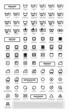 wäsche waschen symbole w 228 sche waschen symbole icon set stockvektor