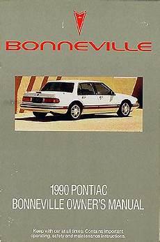 transmission control 1995 pontiac bonneville user handbook 1990 pontiac bonneville original owner manual le se sse