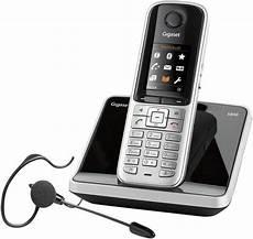 schnurloses telefon analog gigaset s810 mit headset
