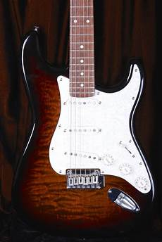 fender stratocaster deluxe series squier by fender deluxe stratocaster standard series quilt reverb