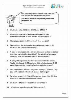 money worksheets year 6 2399 money problem solving money word problems 2019 02 26