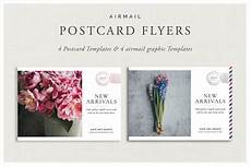 lightroom postcard template airmail postcard flyers flyer templates creative market