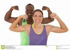 fitness male and female fitness man and woman flex stock photo image of female